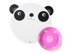 "Коврик и миска ""Hungry panda"" Doiy"