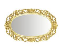 Зеркало овальное резное Qualitative Furniture