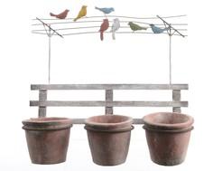Настенное цветочное кашпо с птицами Polkadot Store