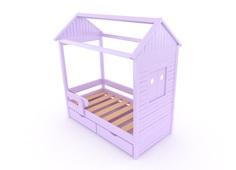 """Детская кровать """"Теремок"""" с ящиками Little Me"""