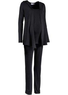 Мода для беременных: спортивные костюм из куртки, брюк и топа (3 изд.) (темно-синий) Bonprix