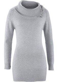Длинный пуловер (черный) Bonprix