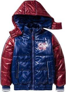 Модная зимняя куртка (черный/зеленый неон) Bonprix