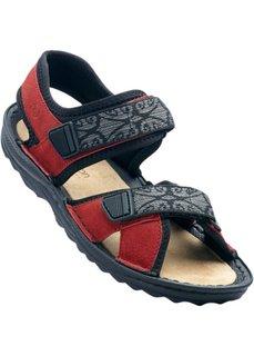 Кожаные трекинговые сандалии (бежевый) Bonprix