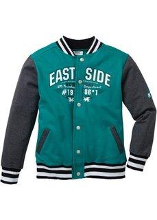 Колледжская куртка, Размеры 116/122-164/170 (темно-синий/светло-серый мелан) Bonprix