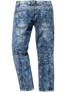 Джинсы Regular Fit Straight, длина (в дюймах) 32 (синий «потертый») Bonprix