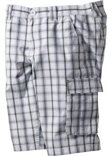 Бермуды-карго (светло-серый/индиго в клетку) Bonprix
