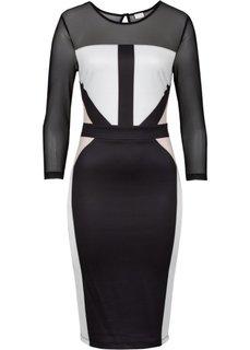 Платье-футляр (темно-синий) Bonprix