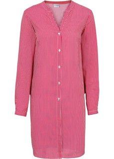 Длинная блузка в полоску (цвет белой шерсти/темно-синий ) Bonprix