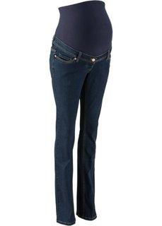Слегка расклешенные джинсы для будущих мам (голубой выбеленный) Bonprix