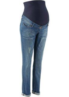 Для будущих мам: джинсы Boyfriend (темно-синий «потертый») Bonprix