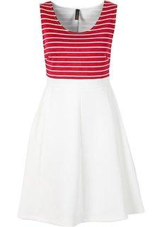 Платье под неопрен (темно-синий океан/белый в поло) Bonprix