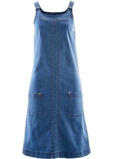 Джинсовое платье-стретч (темный деним) Bonprix