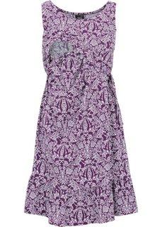 Мода для беременных: трикотажное платье с функцией кормления (кобальтовый/белый с рисунком) Bonprix