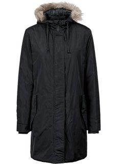 Пальто со съемным капюшоном и опушкой из искусственного меха (коньячный) Bonprix