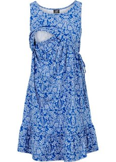 Мода для беременных: трикотажное платье с функцией кормления (виноградный/белый с рисунком) Bonprix