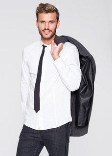 Рубашка-стретч extra Slim Fit с длинным рукавом + галстук (2 изд.) (белый) Bonprix