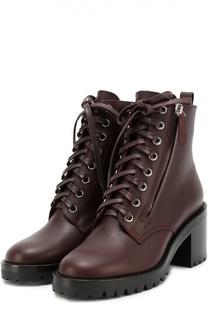 Кожаные ботинки Croft на шнуровке Gianvito Rossi