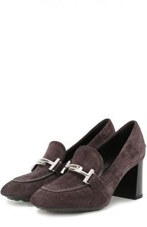 Замшевые туфли Gomma с пряжкой Tod's