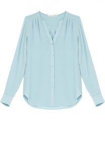 Блуза прямого кроя с V-образным вырезом HUGO