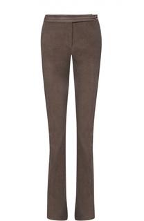 Расклешенные вельветовые брюки с кожаной отделкой Loro Piana