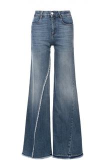 Расклешенные джинсы с завышенной талией и бахромой Stella McCartney
