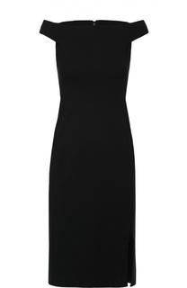 Приталенное платье с разрезом и открытыми плечами Polo Ralph Lauren