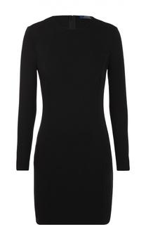 Платье-футляр с круглым вырезом и длинным рукавом Polo Ralph Lauren