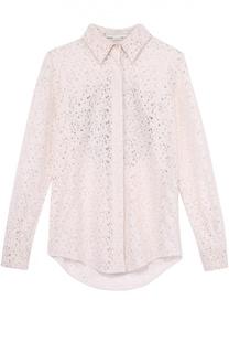 Кружевная блуза прямого кроя с отделкой на спинке Stella McCartney