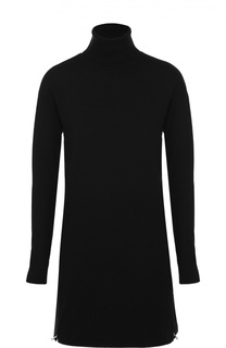 Мини-платье фактурной вязки с высоким воротником Polo Ralph Lauren