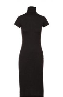 Шерстяное платье с высоким воротником и коротким рукавом Polo Ralph Lauren