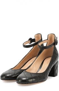 Кожаные стеганые туфли Greta Driver Gianvito Rossi