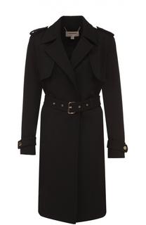 Пальто прямого кроя с погонами и поясом Michael Michael Kors