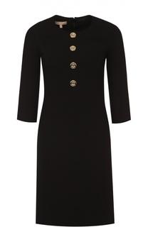 Мини-платье с укороченным рукавом и контрастными пуговицами Michael Kors