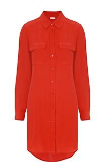 Шелковое платье-рубашка с удлиненной спинкой Equipment