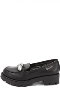 Кожаные туфли с кристаллами Simonetta