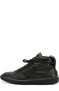 Высокие кожаные кроссовки на шнуровке O.X.S.