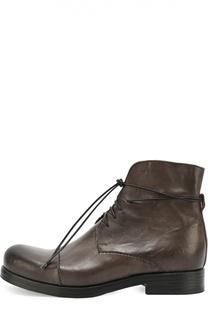 Высокие кожаные ботинки с круглым мысом Mauron