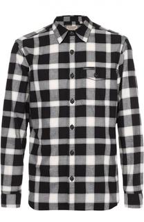 Хлопковая рубашка с воротником кент Burberry Brit
