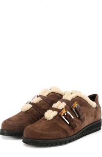 Замшевые ботинки с декорированными ремешками Stuart Weitzman