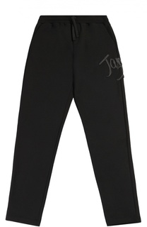 Хлопковые брюки прямого кроя с аппликацией Dolce & Gabbana