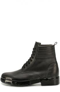 Высокие кожаные ботинки на шнуровке OXS rubber soul