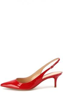 Лаковые туфли с ремешком Gianvito Rossi