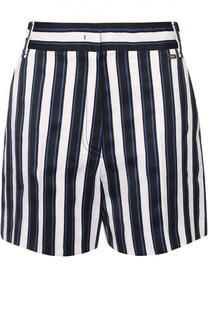 Мини-шорты в контрастную полоску с завышенной талией Escada Sport