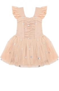 Платье с коротким рукавом и пышной юбкой Stella McCartney