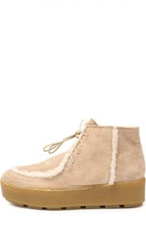 Замшевые ботинки с меховой отделкой Vic