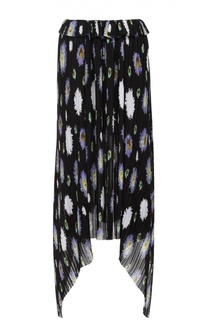 Плиссированная юбка асимметричного кроя с цветочным принтом Kenzo