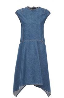 Джинсовое платье асимметричного кроя без рукавов Balenciaga