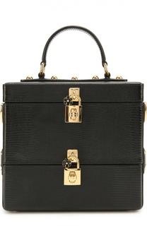Сумка Double Box из тисненой кожи Dolce & Gabbana