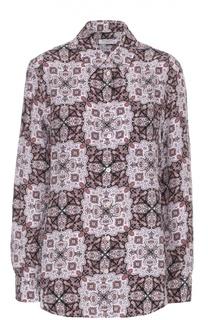 Шелковая блуза прямого кроя с принтом Equipment